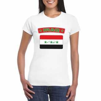 T shirt wit irak vlag wit dames