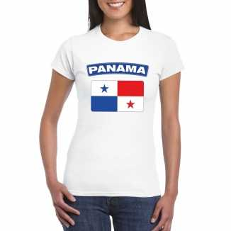T shirt wit panama vlag wit dames