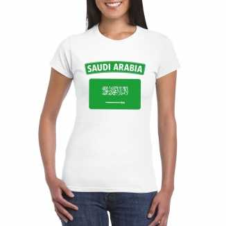 T shirt wit saudi arabi vlag wit dames