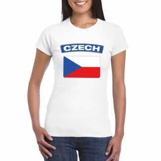 T shirt wit tsjechie vlag wit dames