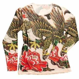 Tattoo verkleed shirtje dames