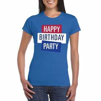 Toppers blauw toppers happy birthday party dames t shirt officieel