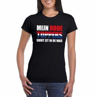 Toppers mijn rode toppers shirt zit in de was t shirt zwart dames