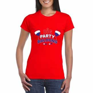 Toppers rood toppers big party baloons dames t shirt officieel