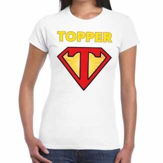 Toppers super topper logo t shirt wit dames