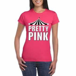 Toppers t shirt roze pretty pink witte letters dames