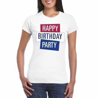 Toppers wit toppers happy birthday party dames t shirt officieel