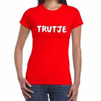Trutje fun t shirt rood dames