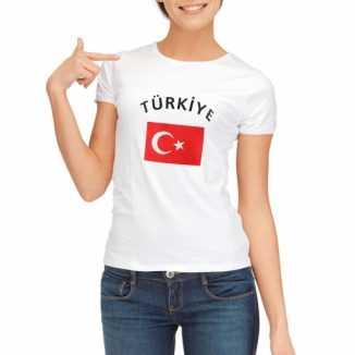 Turkse vlaggen t shirt dames