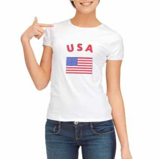Usa vlaggen t shirt dames