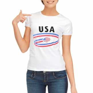 USA vlaggen t-shirts dames