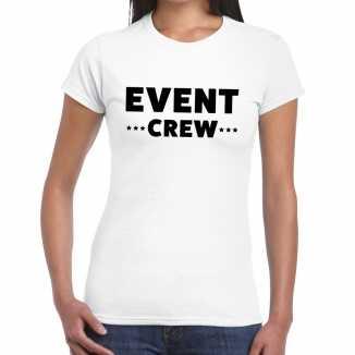 Wit event crew shirt dames