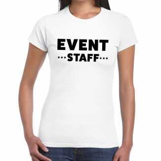 Wit event staff shirt dames