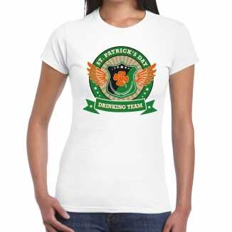 Wit st. patricks day drinking team t shirt dames