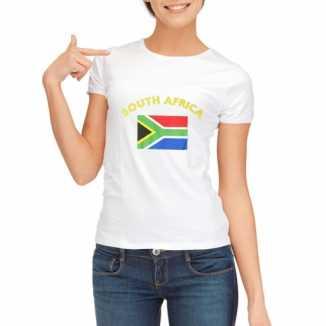 Zuid afrikaanse vlaggen t shirt dames
