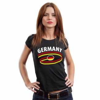 Zwart duits shirt germany dames