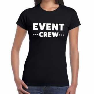 Zwart evenement shirt event crew bedrukking dames