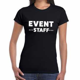 Zwart evenement shirt event staff bedrukking dames