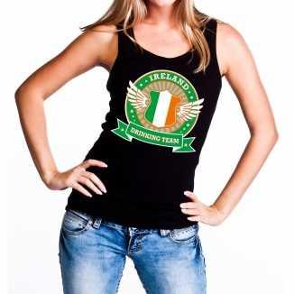 Zwart ireland drinking team tanktop / mouwloos shirt dames