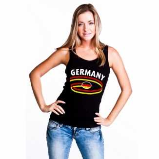 Zwarte dames shirtje Germany print