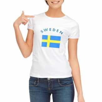 Zweedse vlaggen t-shirt dames