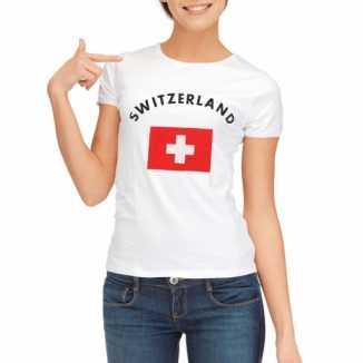 Zwitserse vlaggen t shirt dames
