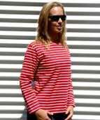 Gestreept dames shirt lange mouw